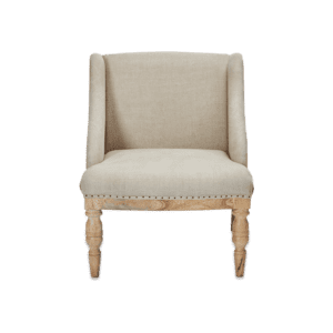 The Hampi Armchair in Stone linen for rent