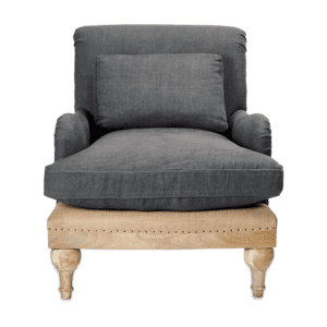 Kerala Armchair in Charcoal for rent