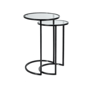 Set of glass side table for rent