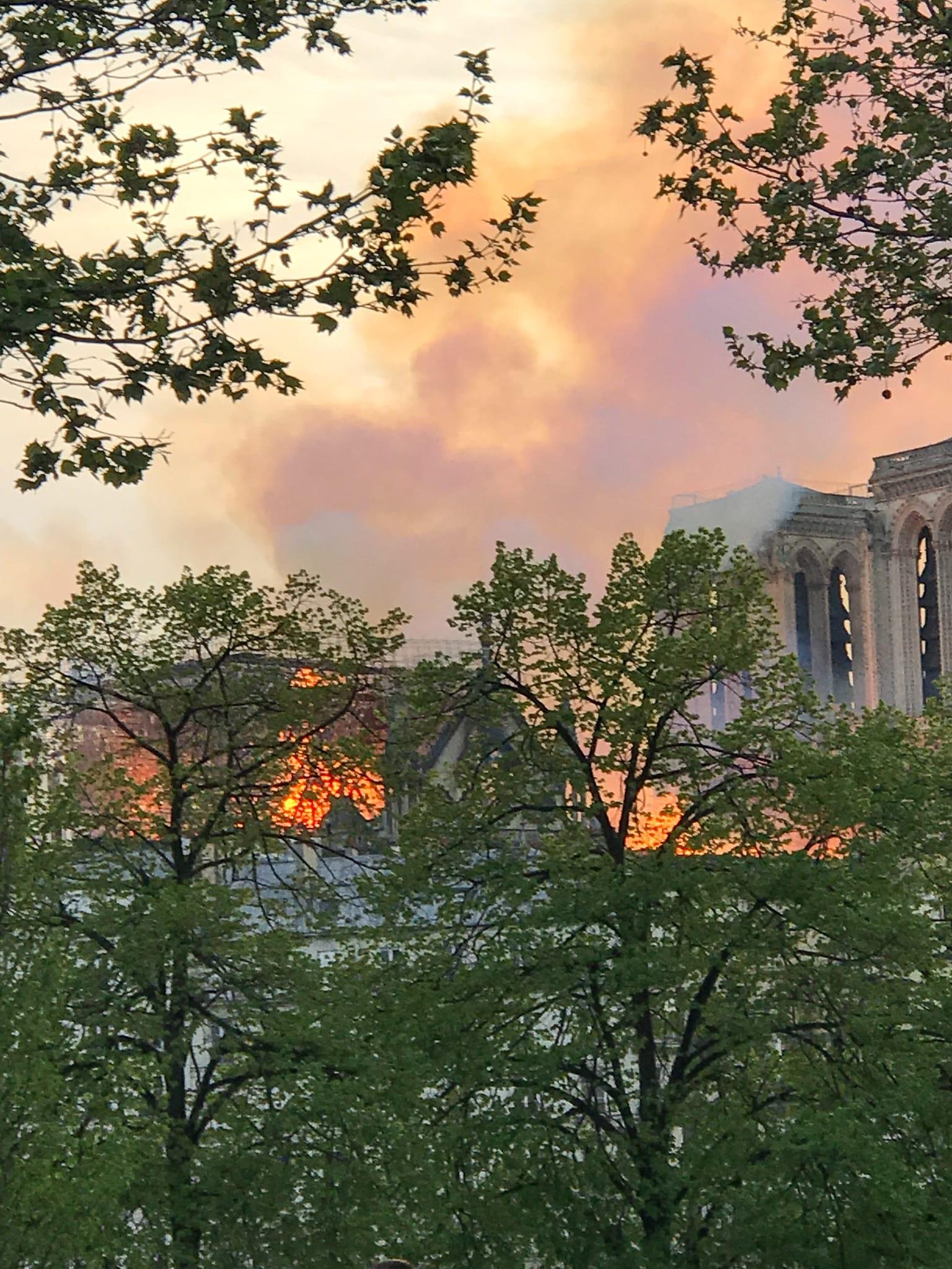 The fire at Notre Dame, Paris