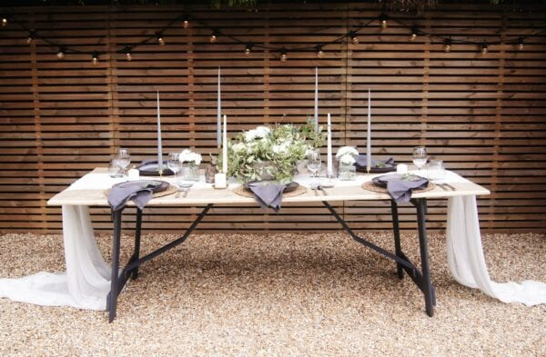 The W Collection Folding Trestle Tables for weddings and events