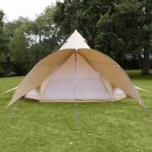 4 m sandstone bell tent for hire for weddings and event