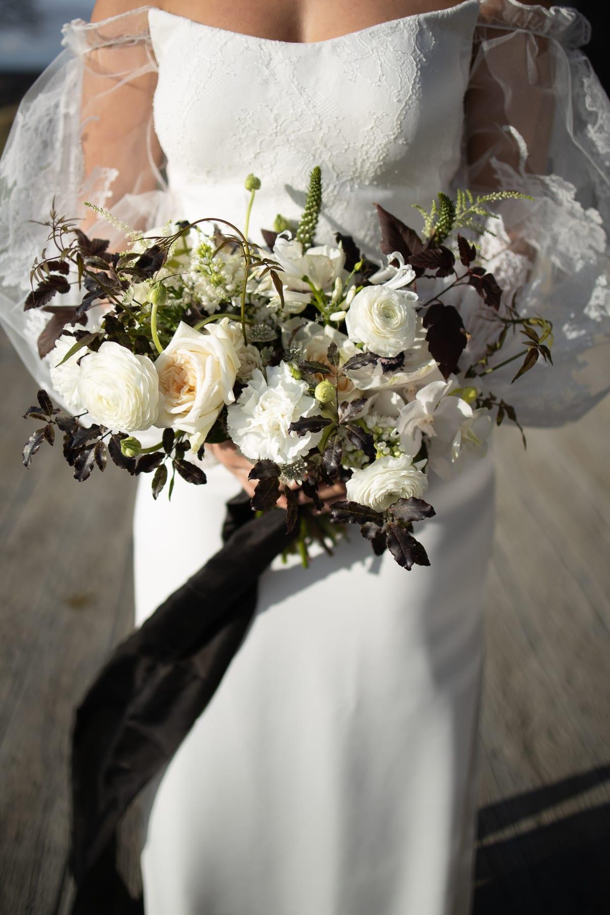 Floral bridal bouquet