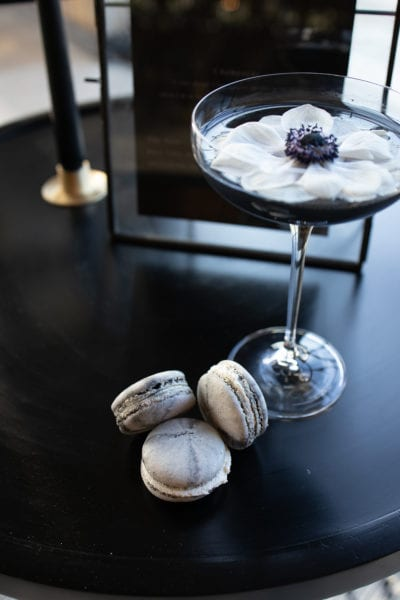 Cocktail with Macrons
