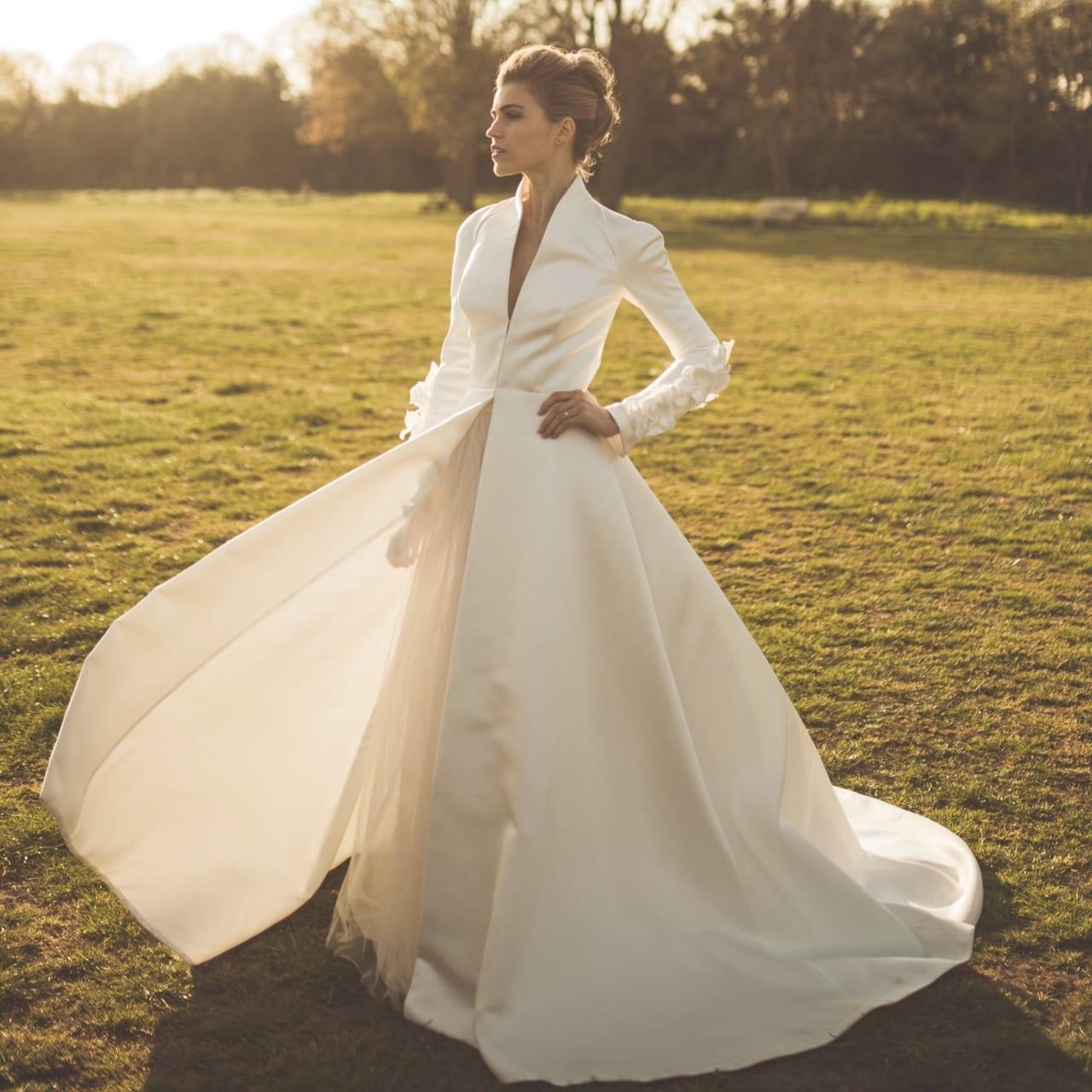 Bridal winter coat