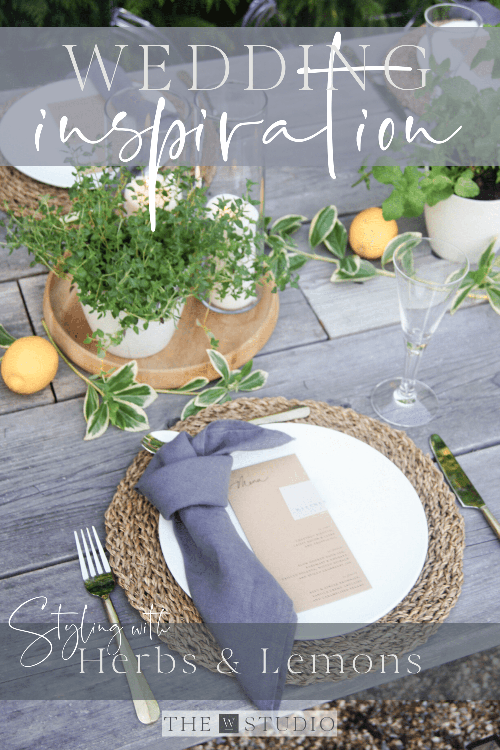 Wedding inspiration with herbs and lemons