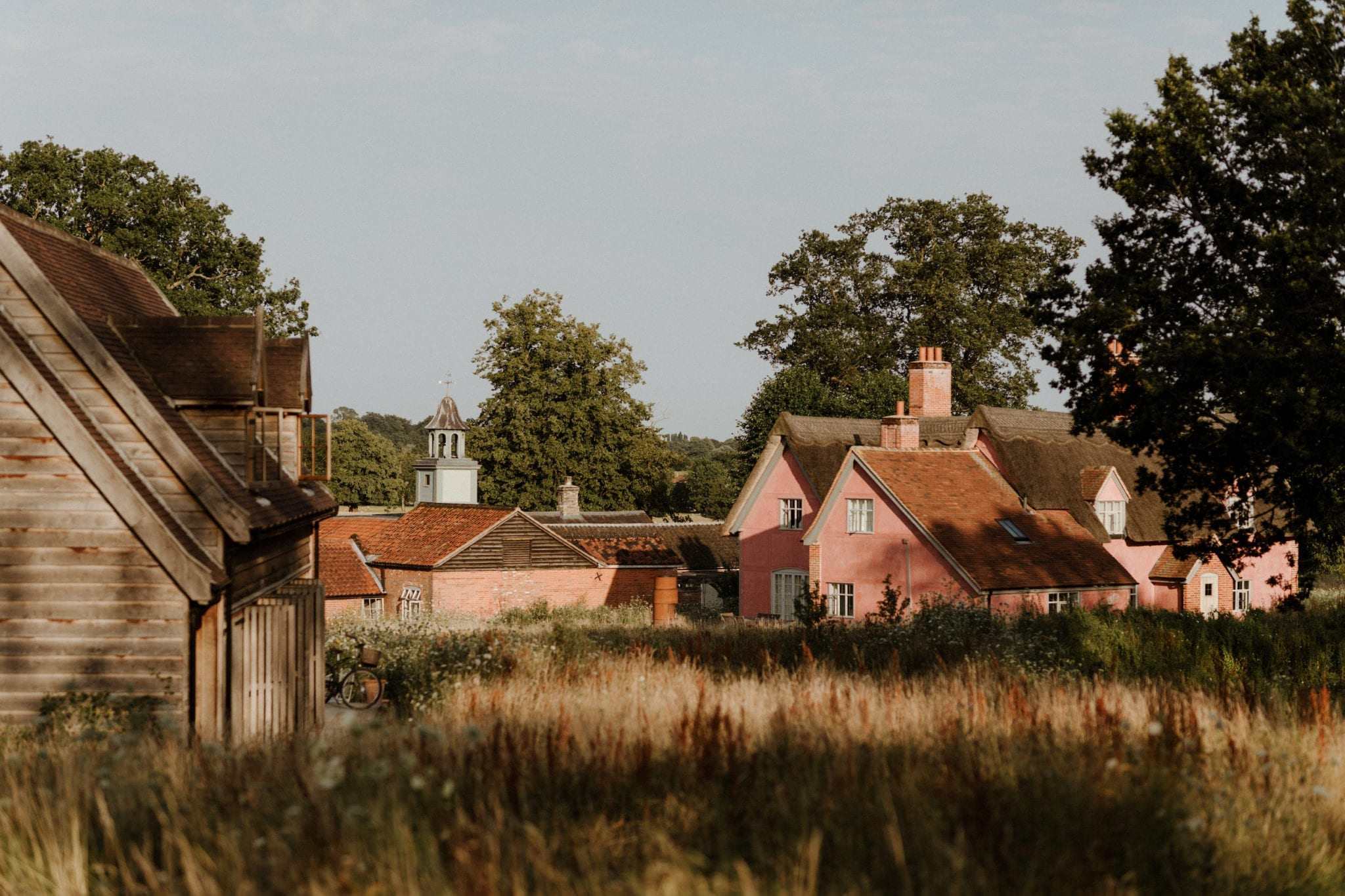 Guest cottages at Wilderness Reserve, Suffolk