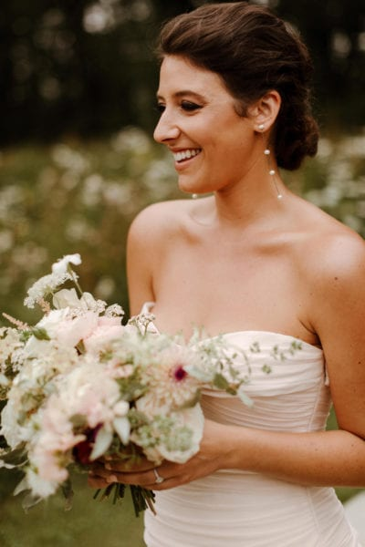 Beautiful bride at her English country wedding