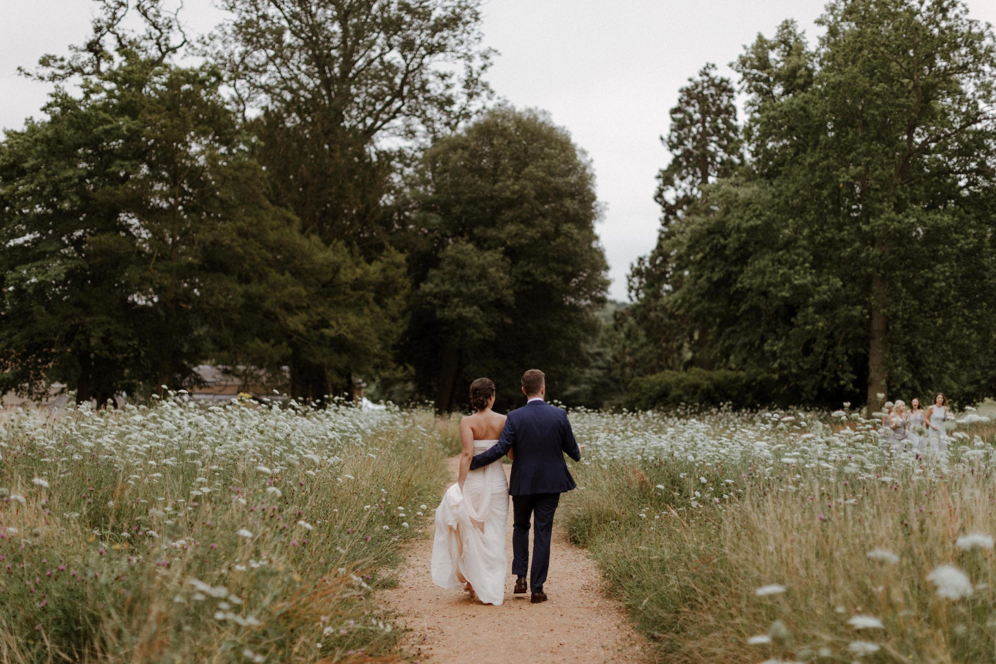 Married couple at their Suffolk wedding