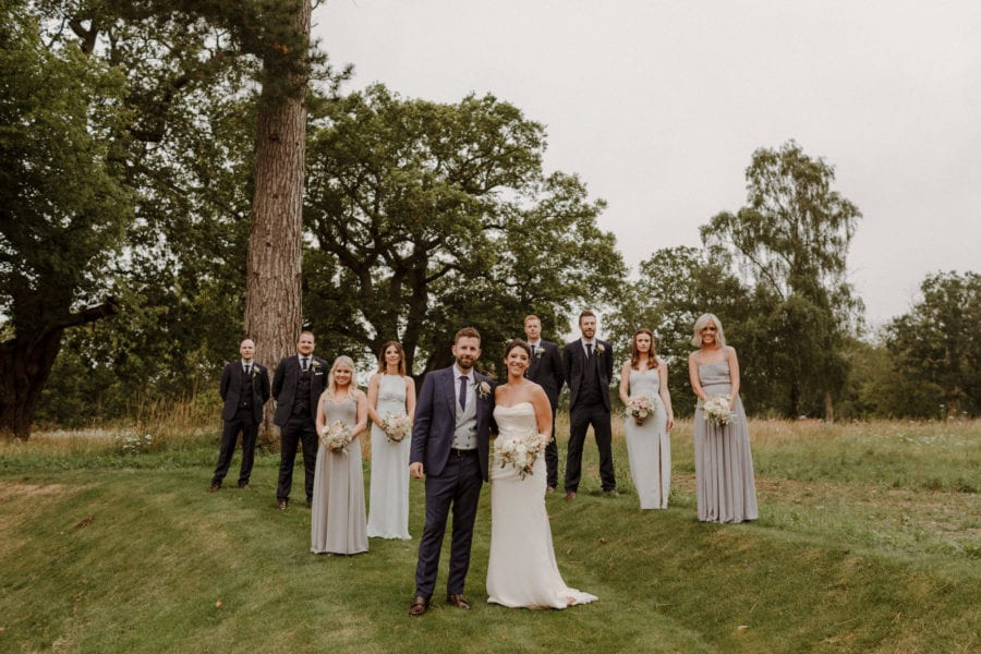 Wedding party at English Country wedding