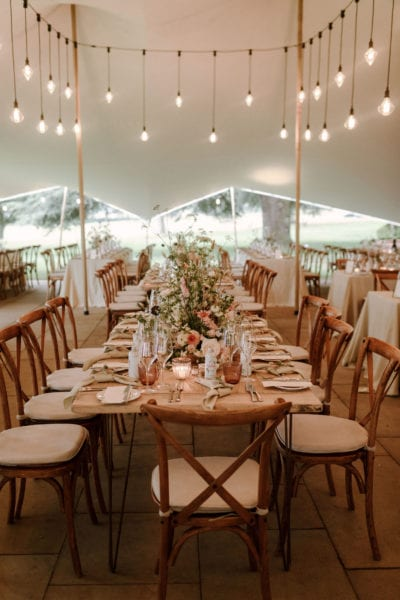Head table at English Country Wedding