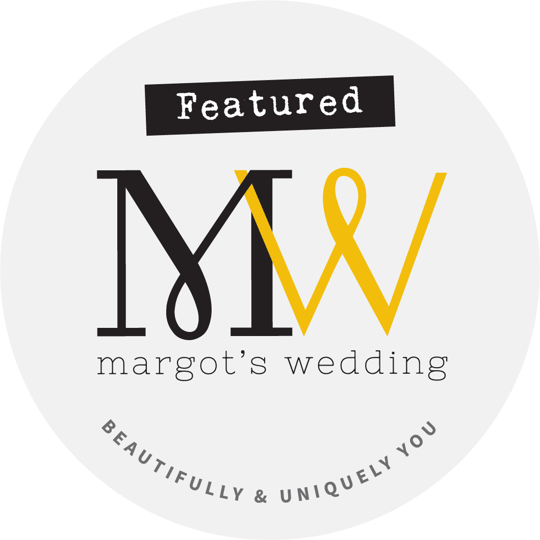 Margots wedding blog badge for styled shoot feature with The W Collection