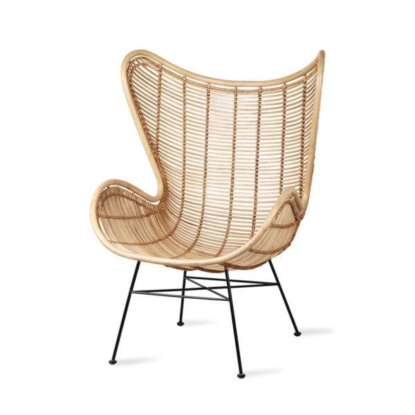 Scandi chic style Rattan egg chair for a scandi look, to rent for weddings and events