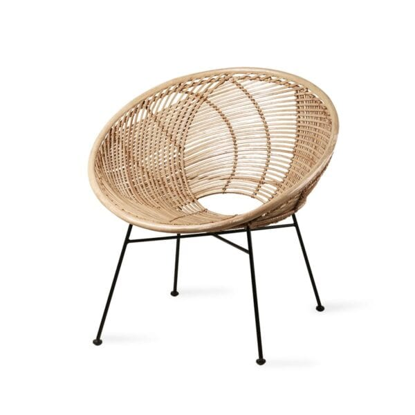 Scandi chic style Rattan ball chair with scandi vibe to rent for weddings and events