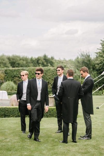 Groomsmen with Groom before wedding ceremony