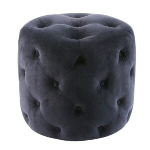 Midnight Velvet Pouffe to hire for weddings and events