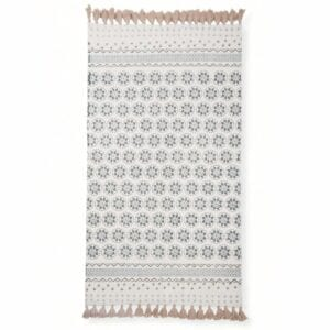 Aria cotton fringed rug to hire for weddings and events