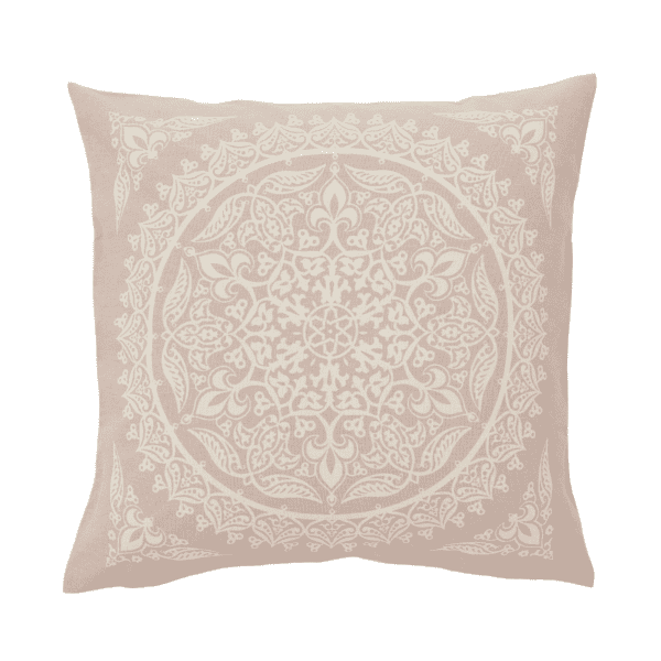 Emma Pink print cushion for hire