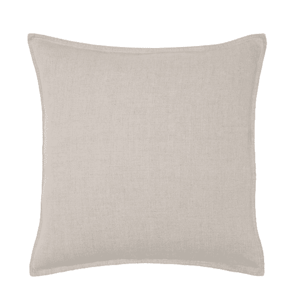Natural washed linen cushion to hire for wedding sand events