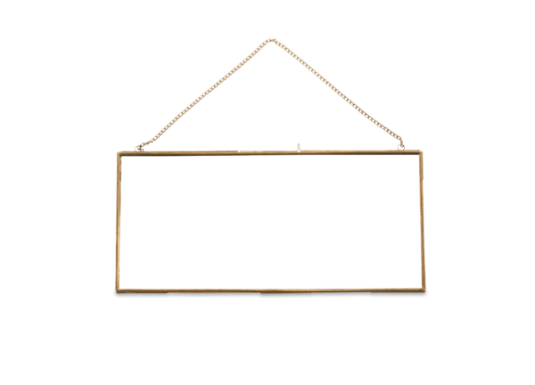 large brass frame for weddings and events