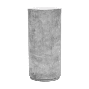 Grey cement pedestal for display for weddings and events