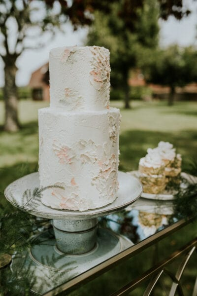 Garden wedding inspired wedding cake